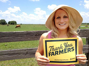 Our guests thank farmers.