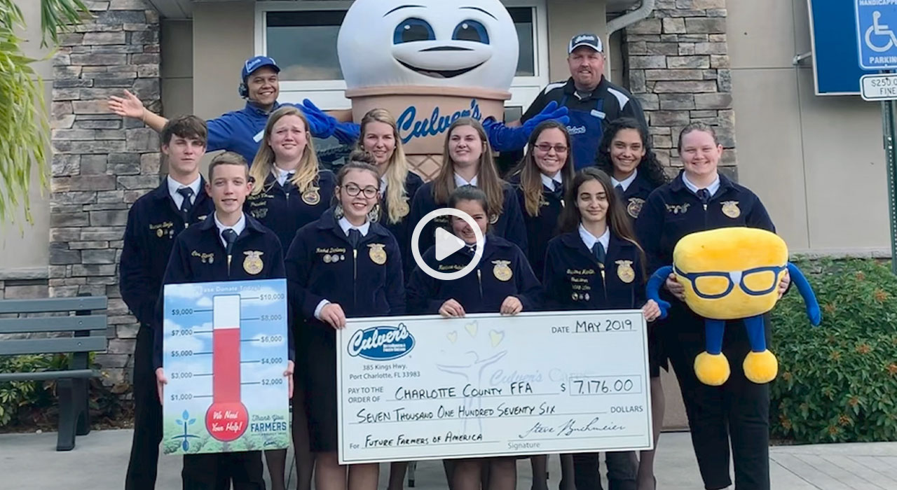 Watch video on how Culver's gives back to the farming community
