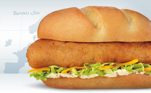 Northern Atlantic Cod Filet Sandwich
