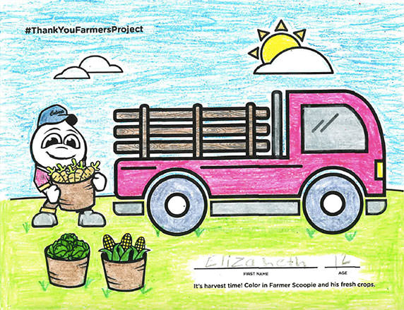 a coloring page from the 2019 calendar