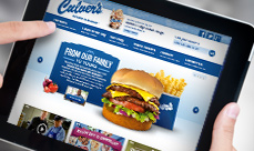 Culvers.com on iPad