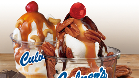 Culver's Caramel Cashew and Turtle Sundaes
