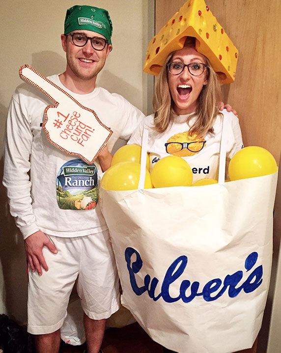One of Culver's biggest fans dressed up as Cheese Curds.