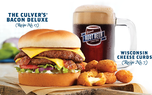 The Culver's Bacon Deluxe and Wisconsin Cheese Curds