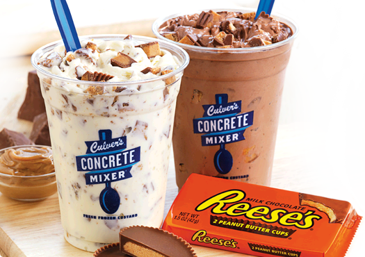 Reeses Vanilla Concrete Mixer and Reeses Chocolate Concrete Mixer