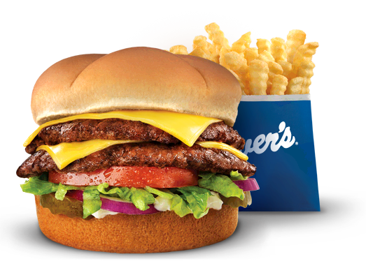 The Culver's Deluxe and Crinkle Cut Fries Photo