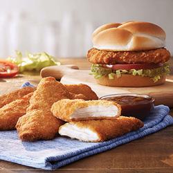 Chicken Tenders and Crispy Chicken Sandwich