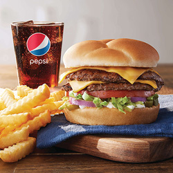 The Culver's Deluxe Regular Value Basket: ButterBurger, Side and Drink