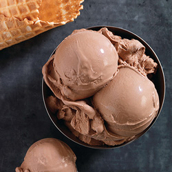 Heaping bowl of Chocolate Fresh Frozen Custard