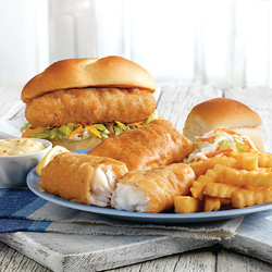 North Atlantic Cod Sandwich and Dinner