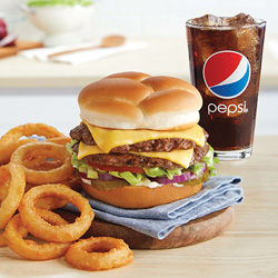 Value Basket: ButterBurger Deluxe, Onion Rings and Pepsi