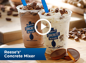 Concrete Mixers made with Reese's Peanut Butter Cups