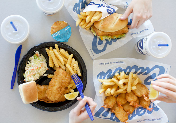 Link to story: Food Quiz: Test Your Seafood Smarts. Pictured, Culver's seafood dinners and value baskets.
