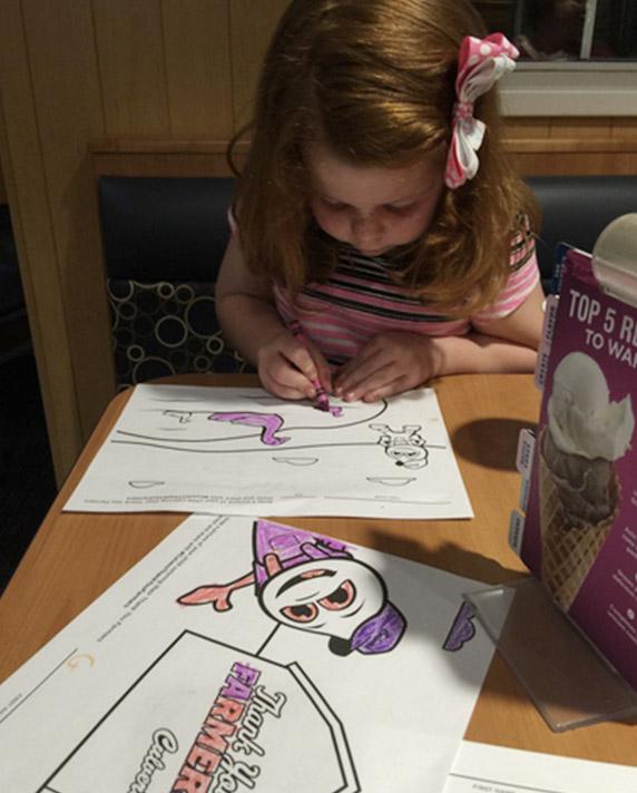 Kid coloring.